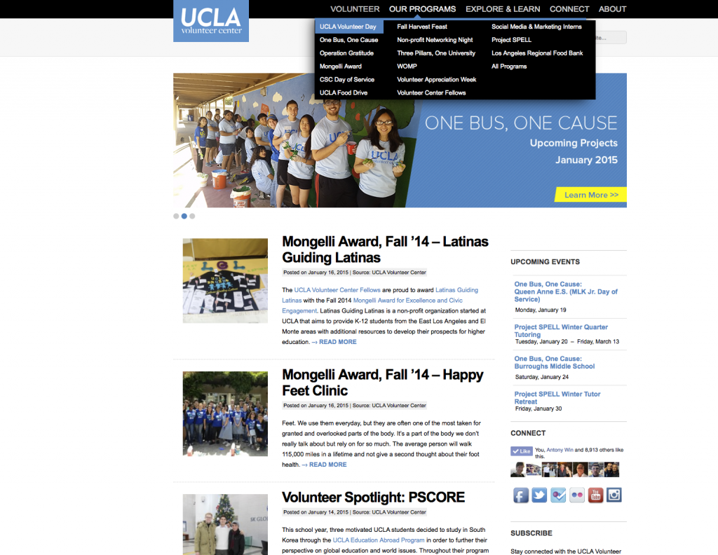 UCLA's Volunteer Center