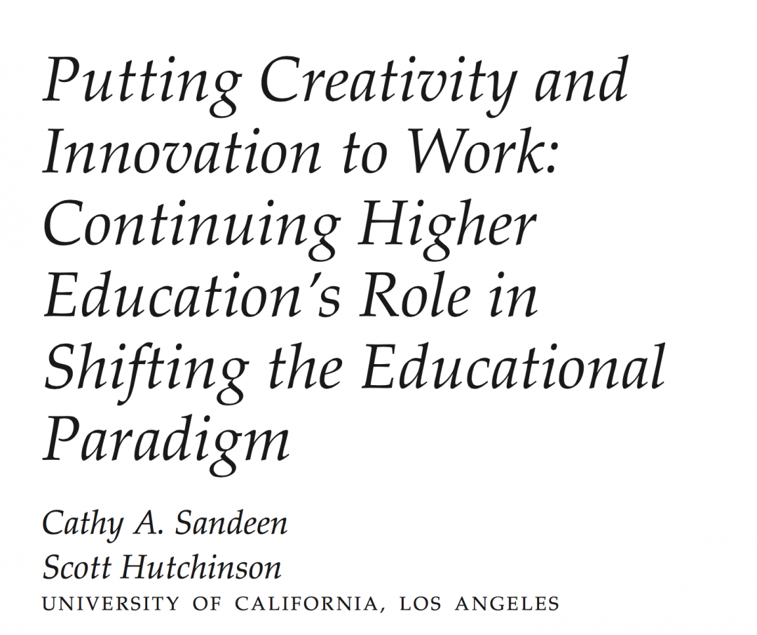 Journal — Putting Creativity to work
