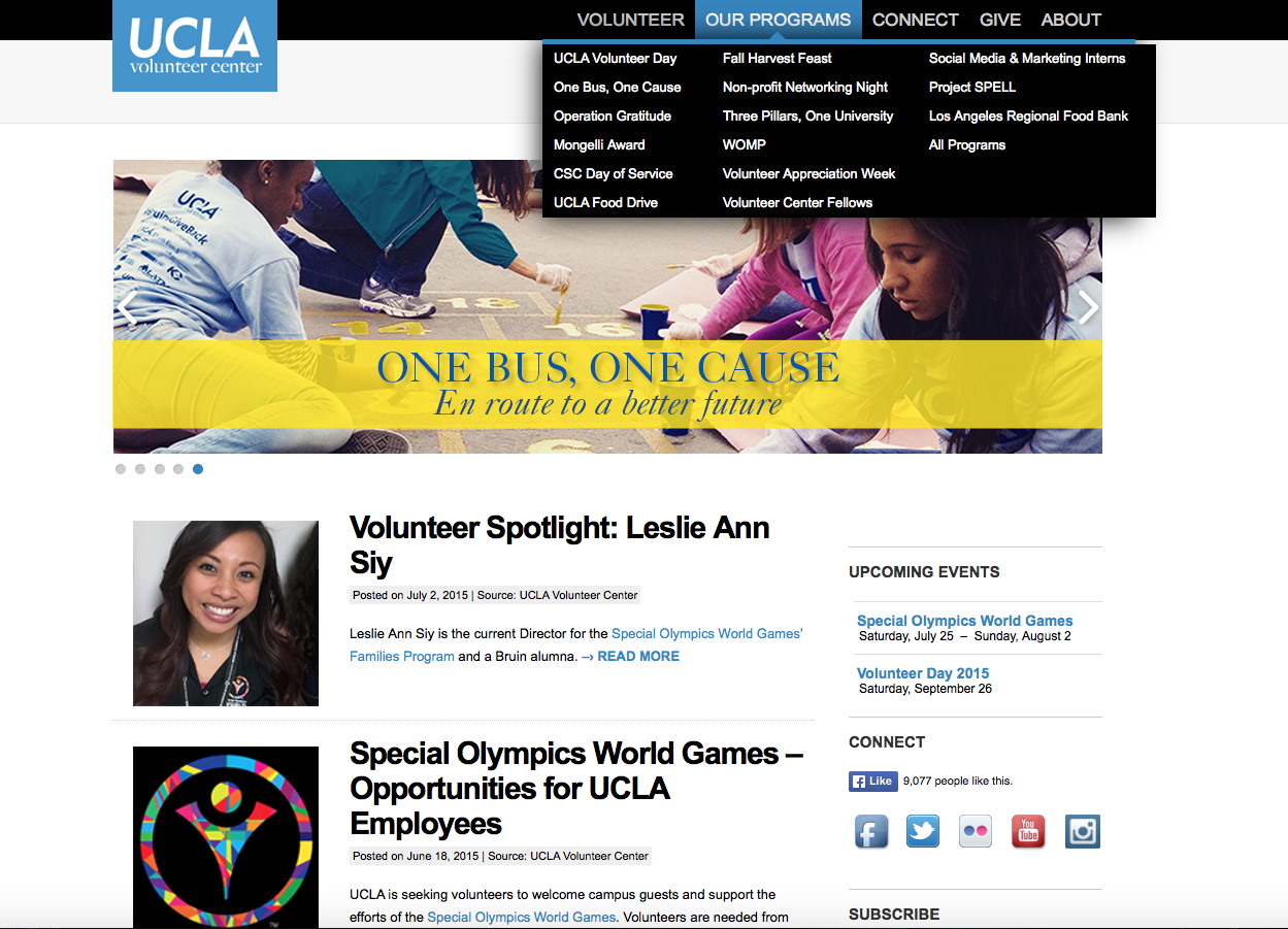 UCLA's Volunteer Center